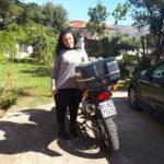 Arrivederci alla simpatica biker Antonella